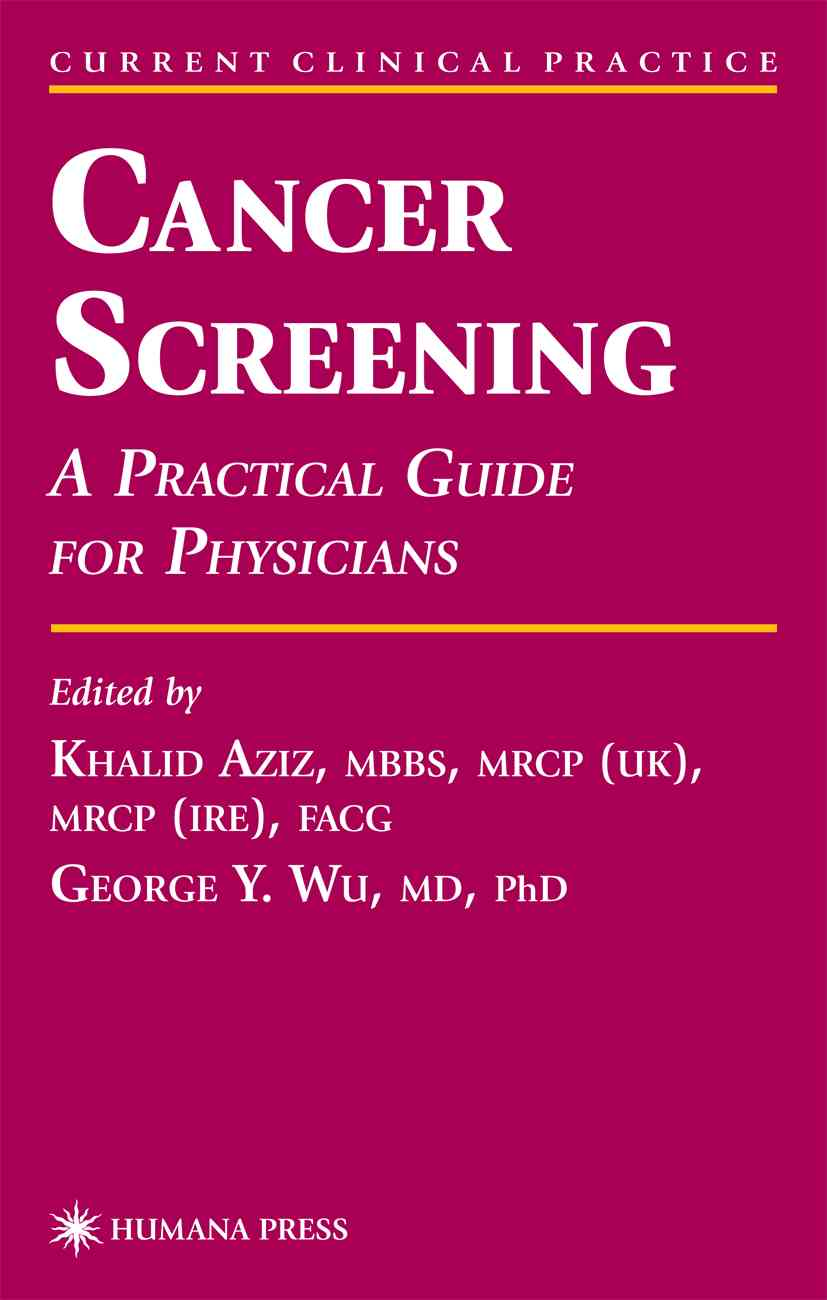Cancer Screening By Aziz, Khalid (EDT)/ Wu, George Y. (EDT)